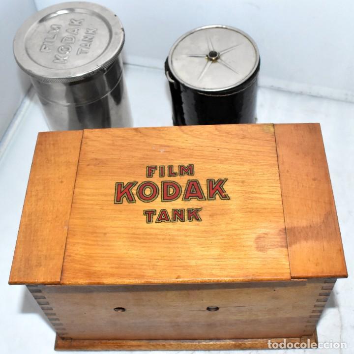 Cámara de fotos: EQUIPO DE REVELADO PORTATIL..KODAK TANK, COMPLETO Y EN MUY BUEN ESTADO..USA 1907/1915.DEBE FUNCIONAR - Foto 4 - 224229383
