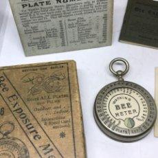 Appareil photos: ANTIGUO EXPOSIMETRO WATKINS BEE METER INGLATERRA AÑO 1904 CON SUS INTRUCCIONES Y CAJA. Lote 224342937