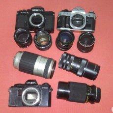 Appareil photos: LOTE DE CAMARAS Y OBJETIVOS COMPLEMENTOS. Lote 225195673