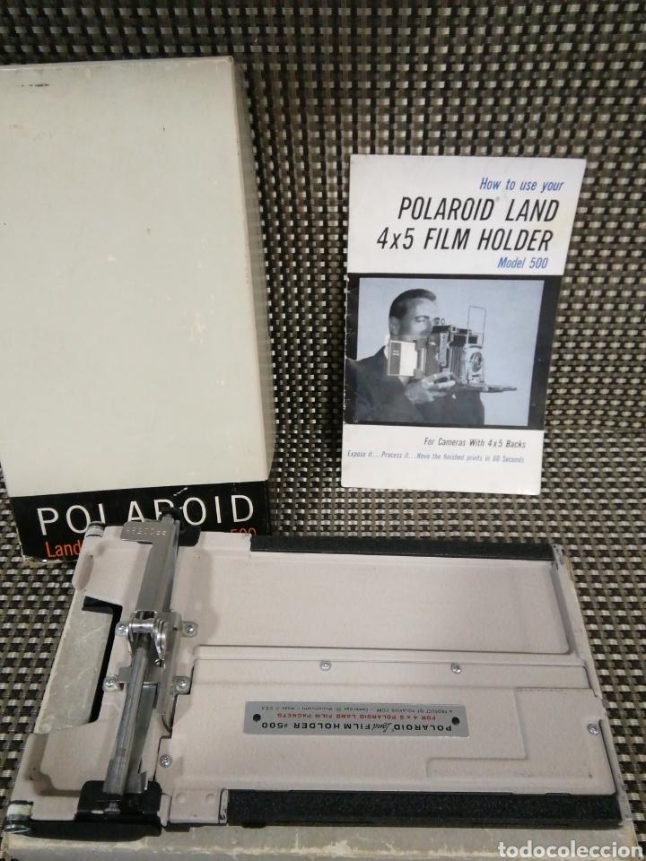 POLAROID LAND 4 X 5 FILM HOLDER MODELO 500 EN CAJA ORIGINAL (Cámaras Fotográficas Antiguas - Objetivos y Complementos )