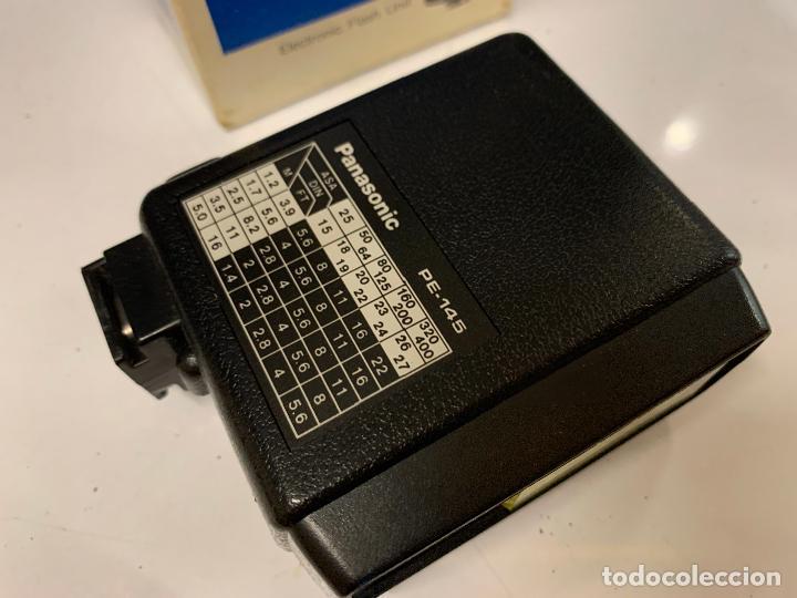 Cámara de fotos: ANTIGUO FLASH PANASONIC PE-145 para camara fotografica. en caja original e instrucciones - Foto 7 - 225359640