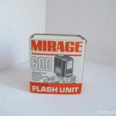 Appareil photos: FLASH / MIRAGE 600 / CON CAJA ORIGINAL, CABLE Y MANUAL / FABRICADO EN JAPÓN /BUEN ESTADO / VER FOTOS. Lote 226463155