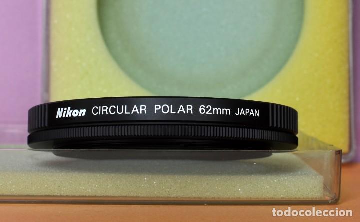 EXCELENTE FILTRO NIKON CIRCULAR POLAR 62 MM. JAPÓN (FOT 16-61) (Cámaras Fotográficas Antiguas - Objetivos y Complementos )