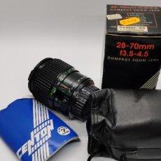 Cámara de fotos: OBJETIVO PARA PENTAX KA Y RICHOCH PROGRAM 28-70MM F3.5-4.5 A ESTRENAR MARCA CENTON. Lote 226944655