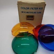 Cámara de fotos: COLOR FILTER KIT FOR AC MASTER/SLAVE FLASH. Lote 226945790