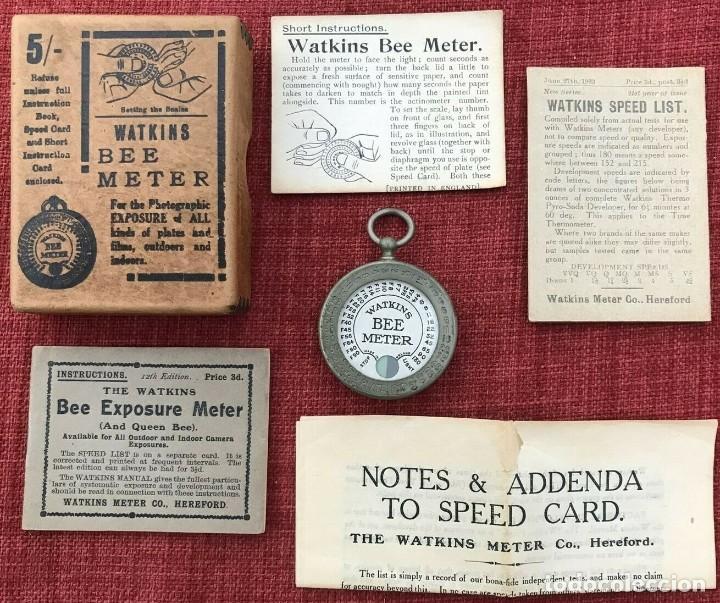 ANTIGUO EXPOSIMETRO WATKINS BEE METER INGLATERRA AÑO 1923 CON SUS INTRUCCIONES Y CAJA (Cámaras Fotográficas Antiguas - Objetivos y Complementos )
