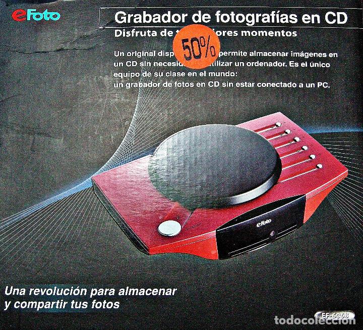 GRABADOR DE FOTOGRAFÍAS EN CD EFOTO (Cámaras Fotográficas Antiguas - Objetivos y Complementos )