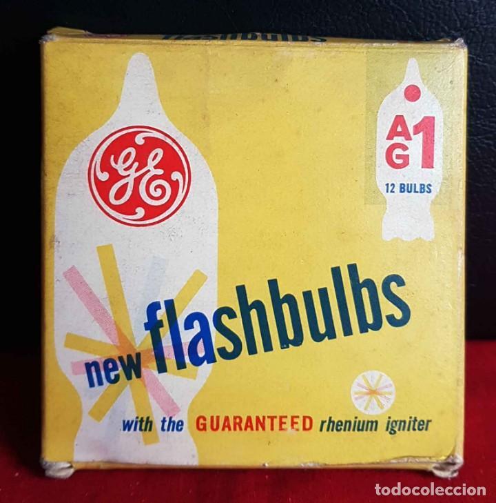 FLASH GENERAL ELECTRIC AG1, 11 UNIDADES CON CAJA ORIGINAL, NUEVOS (Cámaras Fotográficas Antiguas - Objetivos y Complementos )