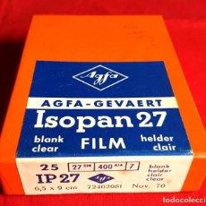 Cámara de fotos: AGFA ISOPAN 27, 25 PLACAS ACETATO 6,5 X 9 CM. Lote 236594380