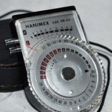 Cámara de fotos: EXCELENTE FOTOMETRO DE BATERIA...HANIMEX CDS 7, PR-65...MUY BUEN ESTADO..FUNCIONAMIENTO COMPROBADO. Lote 236878865