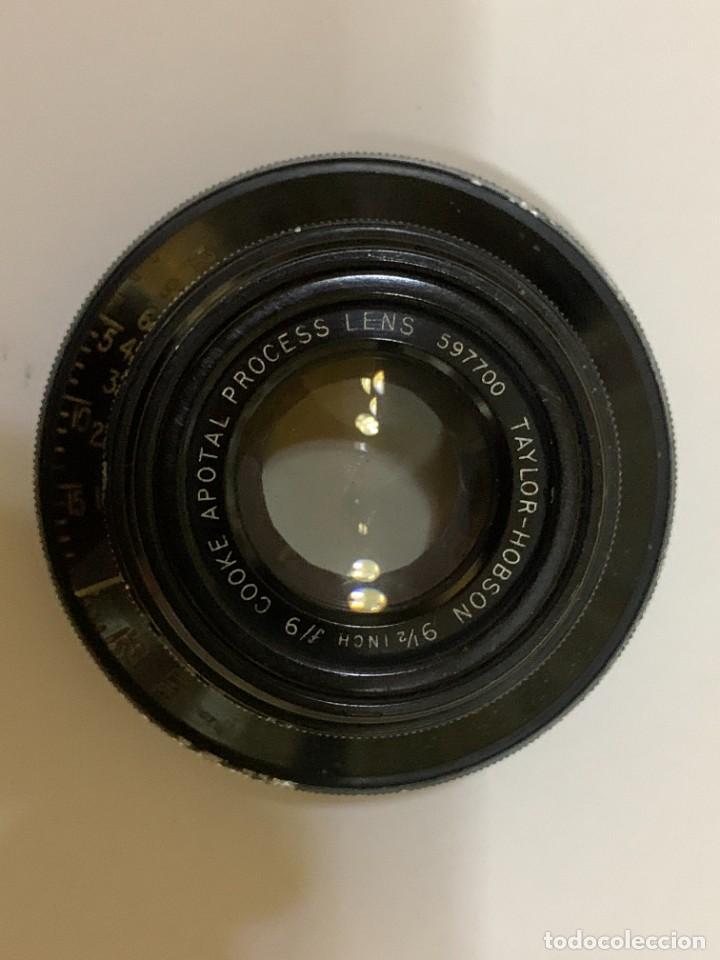 OBJETIVO ANTIGUO TAYLOR HOBSON 90MM 9 (Cámaras Fotográficas Antiguas - Objetivos y Complementos )