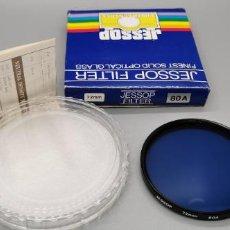 Cámara de fotos: FILTRO JESSOP 72MM BLUE 80A NUEVO A ESTRENAR MADE IN JAPAN. Lote 237904020