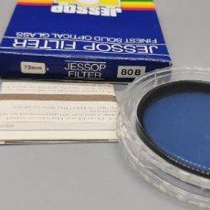 Cámara de fotos: FILTRO JESSOP 72MM BLUE 80 B NUEVO A ESTRENAR MADE IN JAPAN. Lote 237933690