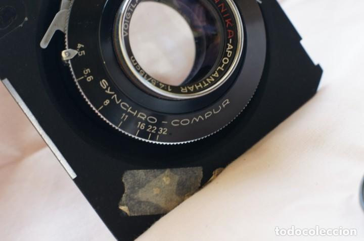 Cámara de fotos: Objetivo Voigtländer Apo Lanthar 1:45/15cm con obturador Linhof synchro-compur para gran formato - Foto 5 - 238205810