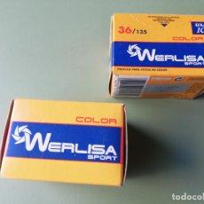 Cámara de fotos: DOS CARRETES WERLISA SPORT COLOR - SIN ABRIR. Lote 243762905
