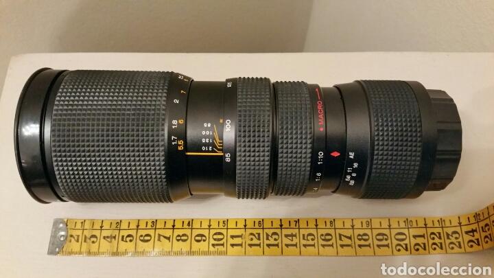 Cámara de fotos: Antiguo Teleobjetivo SAKAR para Cámara Reflex KÓNICA. Lens Japan. 85-210 mm. F3.8 Automatic • Macro. - Foto 12 - 244760005