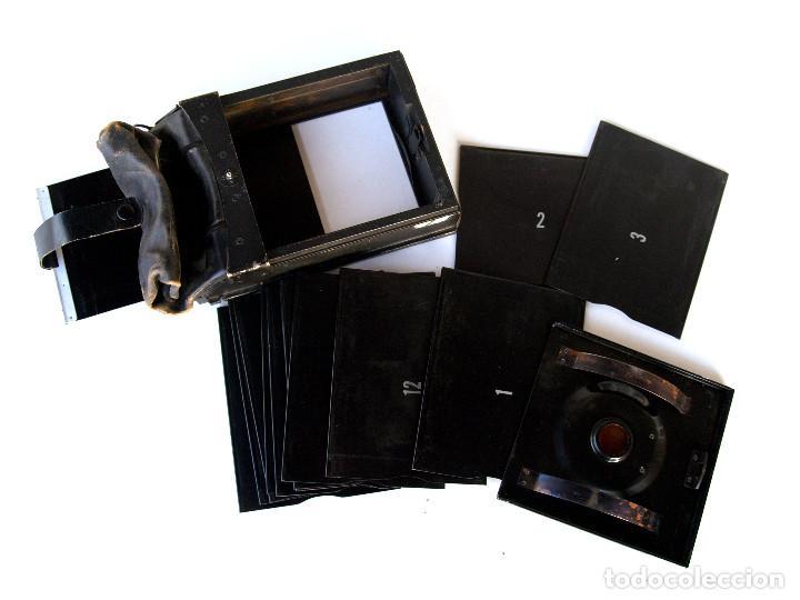"""Cámara de fotos: *c1930* • Respaldo GRAFLEX formato 3x4"""" Tipo """"MAG-BAG"""" • Incluye 12 portanegativos metálicos - Foto 2 - 244781295"""