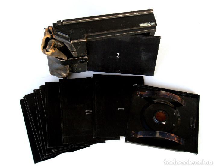 """Cámara de fotos: *c1930* • Respaldo GRAFLEX formato 3x4"""" Tipo """"MAG-BAG"""" • Incluye 12 portanegativos metálicos - Foto 6 - 244781295"""