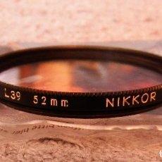 Cámara de fotos: FOTOGRAFIA FILTRO NIKKOR L39 52MM 1A JAPAN. Lote 244939645