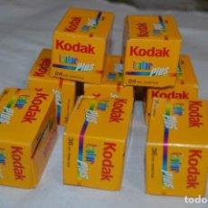 Fotocamere: 8 PELÍCULAS KODAK COLOR PLUS PRECINTADAS - CADUCADAS FECHAS 09/08 Y 10/08 / 36 Y 28 EXP. ¡MIRA!. Lote 252295835