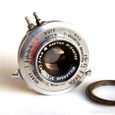 Cámara de fotos: GRUPO OBTURADOR Y ÓPTICA WOLLENSAK: RAPTAR F4.5 75MM + OBT. ALPHAX SYNCHROMATIC (1/10-1/200). Lote 252572100