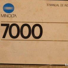 Cámara de fotos: MANUAL INSTRUCIONES MINOLTA SEGUNDA MANO. Lote 254906990