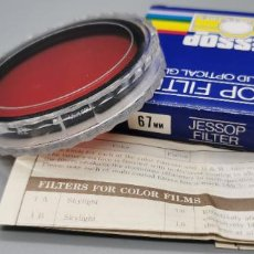 Appareil photos: FILTRO RED R 2 67MM JESSOP MADE IN JAPAN NUEVO. Lote 259282675