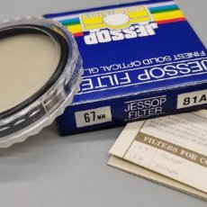 Appareil photos: FILTRO 81 A 67MM JESSOP MADE IN JAPAN NUEVO. Lote 259282825