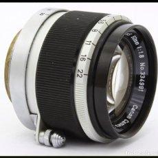 Cámara de fotos: OBJETIVO CANON 50MM F 1,8 MONTURA LEICA M39 TELEMÉTRICA.. Lote 259871055