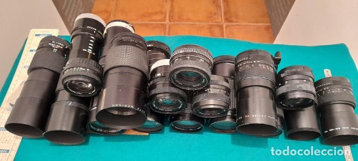 GRAN LOTE DE 26 OBJETIVOS DE CAMARAS FOTOGRAFICAS (Cámaras Fotográficas Antiguas - Objetivos y Complementos )