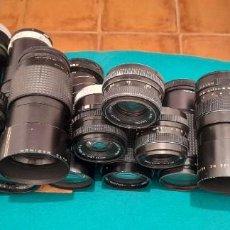 Fotocamere: GRAN LOTE DE 26 OBJETIVOS DE CAMARAS FOTOGRAFICAS. Lote 261901120