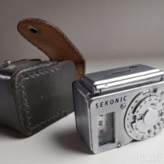 Cámara de fotos: FOTOMETRO SEKONIC L-12 --1955---FUNCIONANDO PERFECTAMENTE-MADE IN JAPAN. Lote 266514568