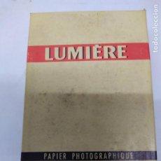 Câmaras de fotos: CAJA DE PAPEL FOTOGRAFICO LUMIERE 9X14 SIN ABRIR VER FOTOS. Lote 267618119
