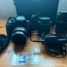 Cámara de fotos: CANON EOS 650D + OBJECTIFS + SAC. Lote 267902719