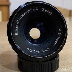 Cámara de fotos: EDIXA TRAVEGON 35MM 2.8 MONTURA M42. Lote 273094113