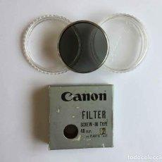 Cámara de fotos: FILTRO FOTOGRÁFICO CANON 48 MM. (JAPÓN, 1970'S) GRIS. CON ESTUCHE. ORIGINAL ¡COLECCIONISTA!. Lote 274578523