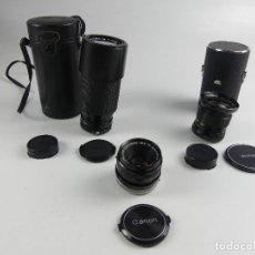 Appareil photos: COLECCION DE 3 OBJETIVOS PARA CAMARAS FOTOGRAFICAS. Lote 275557608