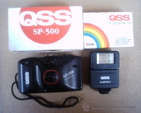 CÁMARA FOTOGRÁFICA QSS SP-500 DE 35 M/M CON FLASH QSS M-14 (Cámaras Fotográficas - Panorámicas y Compactas)