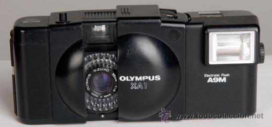 OLYMPUS XA1 + FLASH ¡MINIATURA DE CALIDAD¡ (Cámaras Fotográficas - Panorámicas y Compactas)