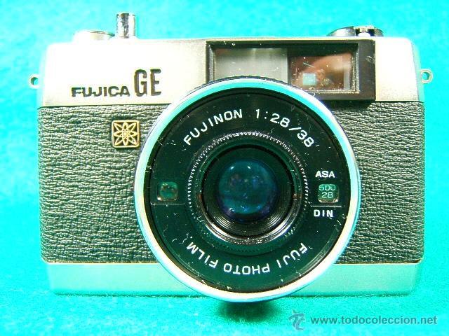 FUJICA GE-FUJI PHOTO FILM JAPAN-OBJETIVO FUJINON 1:2,8/38-25 ASA A 800-DIAFR:2 A 22-FOTOMETRO-CAMARA (Cámaras Fotográficas - Panorámicas y Compactas)