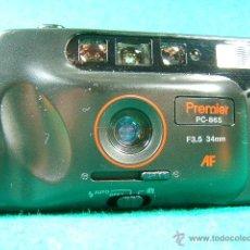 Cámara de fotos: PREMIER DX PC 865 AF-F 3,5 34 MM-FOTOMETRO-TELEMETRO-MOTOR-A PILAS-MADE IN TAIWAN-CAMARA COMPACTA.... Lote 178207933