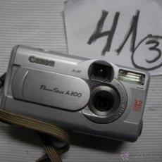 Cámara de fotos: CAMARA CANON POWER SHOT A 300 FUNCIONANDO. Lote 46240817