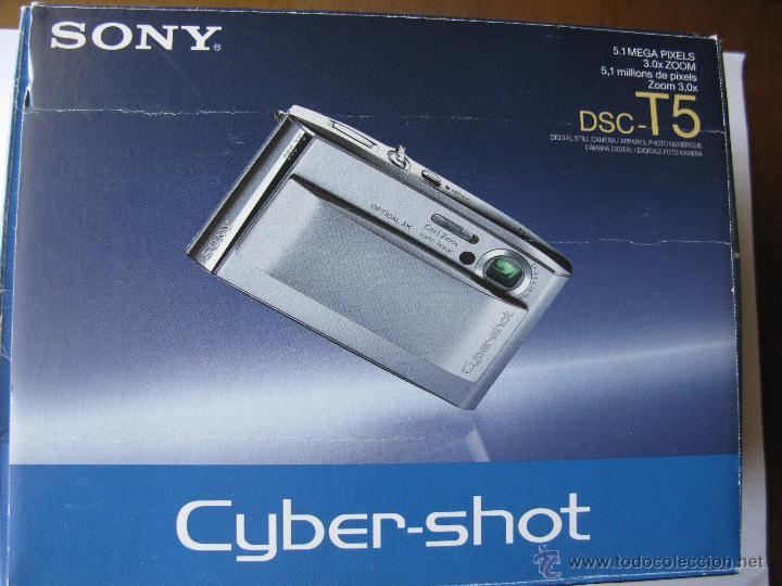 SONY. DSC-T5. 5.1 MP. 3.0X ZOOM. (PARA DETALLES VER FOTOGRAFÍAS) (Cámaras Fotográficas - Panorámicas y Compactas)
