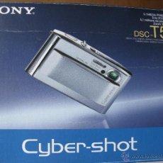 Cámara de fotos: SONY. DSC-T5. 5.1 MP. 3.0X ZOOM. (PARA DETALLES VER FOTOGRAFÍAS). Lote 48724179
