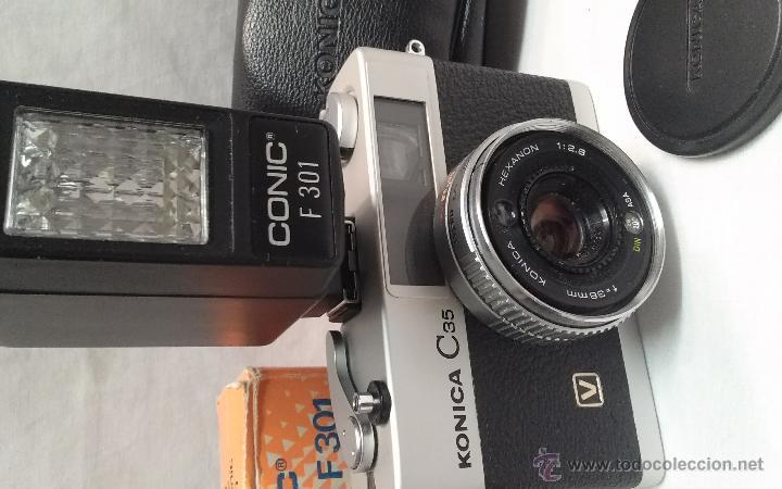 Cámara de fotos: CAMARA DE FOTOS KONICA C 35 Y FLASH CONIC F 301 - Foto 2 - 49552038