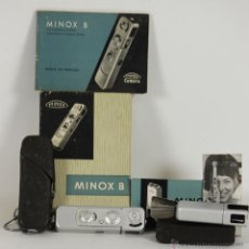 Cámara de fotos: CAMARA FOTOGRAFICA. MINOX MODELO B Y MODULO DE FLASH MINOX B. 1965. . Lote 54786655