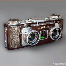 Cámara de fotos: KODAK STEREO 35. EXTRAORDINARIA CAMARA AMERICANA DE 1954. MUY BUEN ESTADO. Lote 63029328