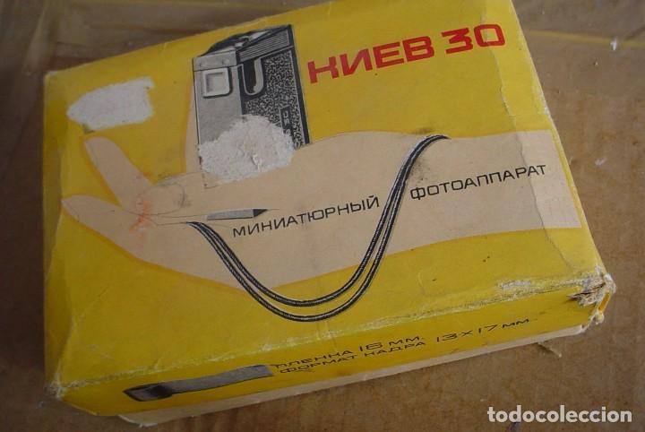 Cámara de fotos: Camar rusa tipo espia Kiev 30 con estuche original - Foto 3 - 64747131