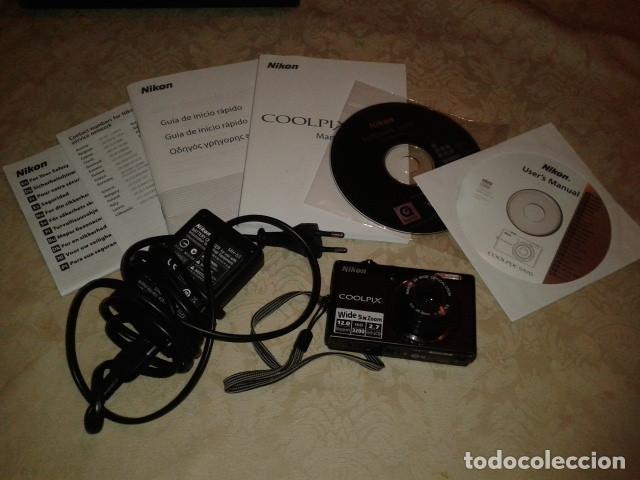 CÁMARA DIGITAL NIKON COOLPIX. CARGADOR, CD INSTALACION, INSTRUCCIONES (Cámaras Fotográficas - Panorámicas y Compactas)