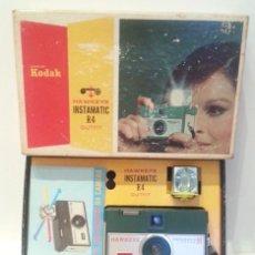 Cámara de fotos: KODAK HAWKEYE INSTAMATIC R4 DE 1965. EXCELENTE ESTADO. COMPLETÍSIMA. INSTAMATIC PREMIUM. Lote 97408935